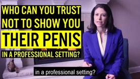 "Wow, this political ad in Michigan does not hold back: ""Who can you trust not to show you their penis?"""