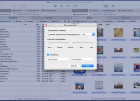 Open archives and compress files on Mac