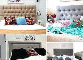 Buy Online Padded Bedhead, Headboard & Bed Ensemble