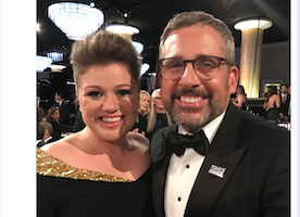 Steve Carell and Kelly Clarkson Finally Meeting at the Golden Globes was my favorite