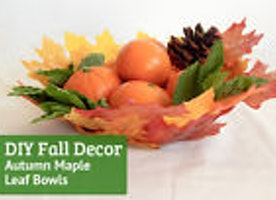 Decorate Your Home For Fall With Autumn Maple Leaf Bowls