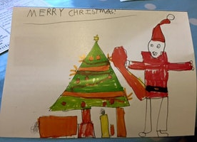 Mom Finds Solidarity on Facebook After Sharing Son's Inappropriate, Funny Xmas Drawing