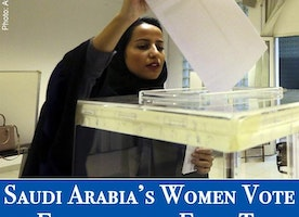 Amazing News -- Saudi Arabia's Women Vote in Election for the First Time