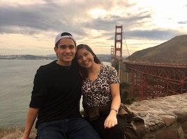 At the Golden Gate Bridge With my Best Friend