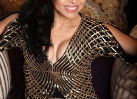 "Jules Lavallee, Celebrity Reporter for Copa Style magazine interviews Sandra Santiago Star of hit show, ""Sangra Negra"""