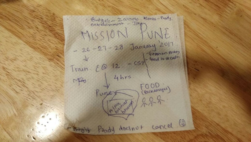 How a tissue paper plan saved our trip...