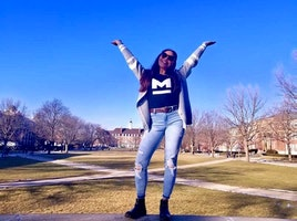 Showing Off My Mogul Swag on the Quad!