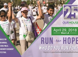Our House Grief Support Center  Hosts 9th Annual Run For Hope, April 29