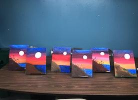 I Organized a Paint & Sip!