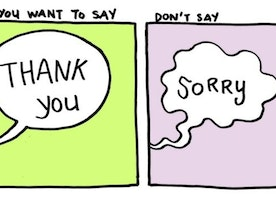 7 Cartoons Show How 'Thank You' Can Be an Empowering Substitute for 'Sorry'