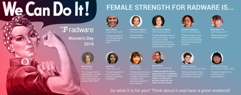 Radware Recognized Womans Day 2018