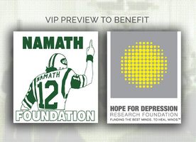 The Joe Namath Foundation & Hope For Depression Research Foundation Announced as Art New York's Co-Beneficiaries