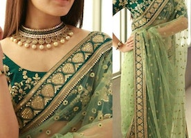 It's the Right Time to Choose Net and Printed Sarees
