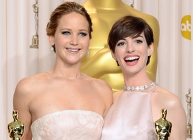 Read Anne Hathaway's Defense of Jennifer Lawrence's Golden Globes Joke