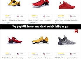 Top giày Adidas NMD Human Race bán chạy nhất thế giới thời gian qua