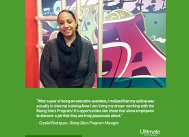 Hear what our Rising Stars Program Manager, Crystal, says about working at Ultimate!