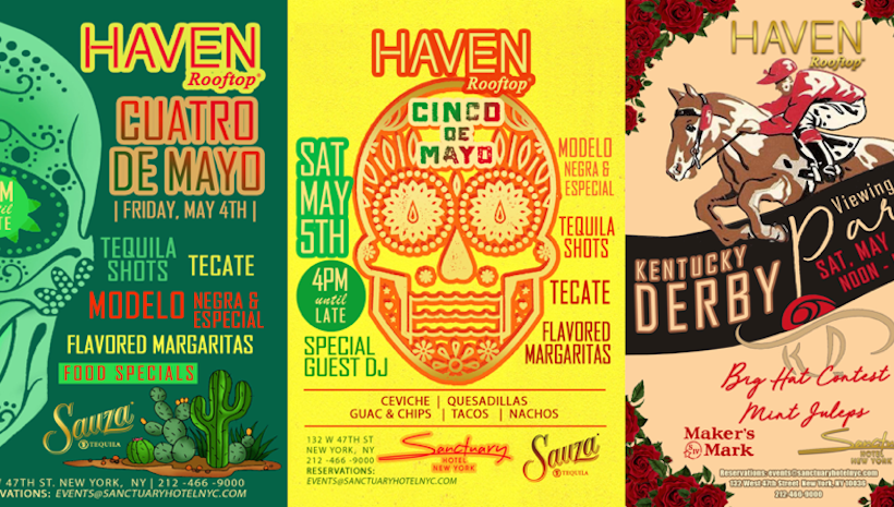 Haven Rooftop's Cuatro de Mayo, Cinco de Mayo & Kentucky Derby Parties
