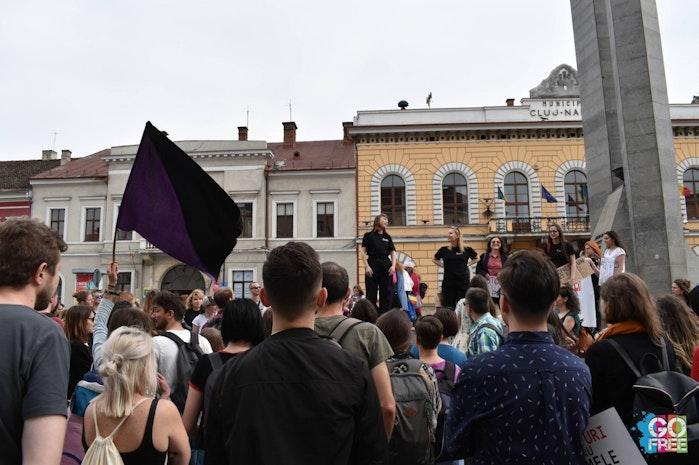 Women's March in Cluj, Romania
