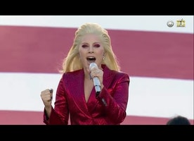 Super Bowl 50 (2016) Lady Gaga Sings National Anthem [HD]