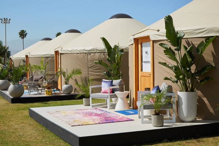 "Marriott does Coachella ""The W Way"" with Luxury Yurts Designed After their Bali, Hollywood, Barcelona, and Dubai Locations"