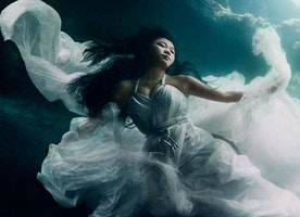 Gorgeous Models Dive 25 Meters Underwater in Bali for an Ethereal Photoshoot