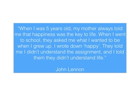 What if the wisdom of a 5 year old John Lennon held the key to unlocking the strengths of the world?
