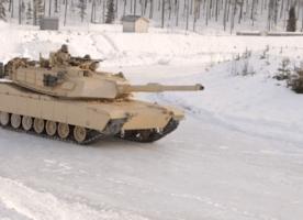 Watch U.S. Marines Drift Tanks in the Snow
