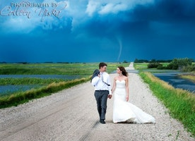 This Couple Has the Most Badass Wedding Photos Ever, Thanks to This Tornado.