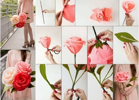 Eleven easy steps to make paper flowers at home!