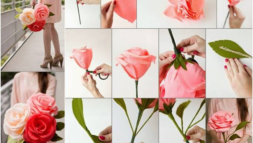 Eleven easy steps to make paper flowers at home mogul mightylinksfo