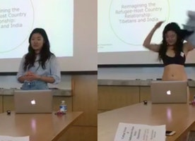 "Right Or Wrong? Cornell Student Strips To Underwear During Presentation After Professor Says Her ""Shorts Are Too Short"""