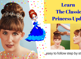 Learn The Classic Princess updo for yourself, your daughter, a costume party.....Enjoy!