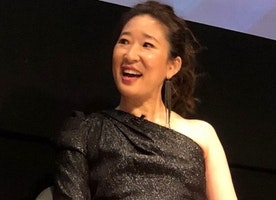 Actress Sandra Oh Honored With a Vanguard Award at the 2018 Split Screen TV Festival.