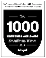 Amazon Prime Now being honored on Mogul's annual list of Top 1000 Companies Worldwide for Millennial Women in 2018!