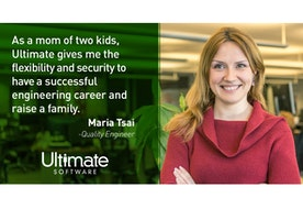 Maria loves the work life balance Ultimate is able to provide!