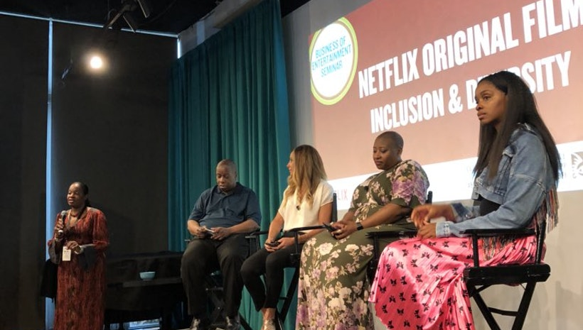The Netflix Panel on June 15, 2018 during the American Black Film Festival