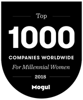 Voted Mogul's Top 150 companies for Millennial Women in 2018