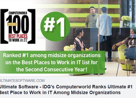 #1 Best Place to Work in IT by Computerworld!!