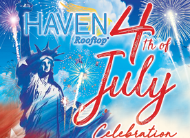 Celebrate The 4th of July at Haven Rooftop With Freedom Slushies!