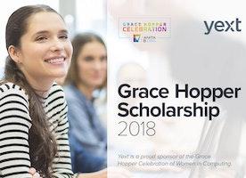 Yext Grace Hopper 2018 Scholarship