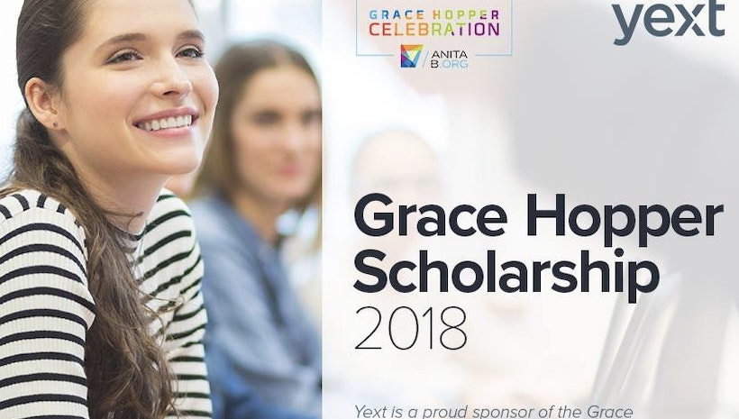 Yext Grace Hopper 2018 Scholarship