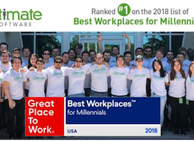 So proud to be #1 on the Best Workplaces for Millennials list!