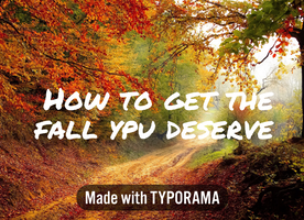 How to get the fall you deserve