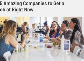 """We made it on the """"Amazing Companies Hiring Right Now"""" list!"""