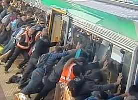 Watch How These Commuters in Australia Worked Together To Save a Man Who Fell Between the Train and a Platform