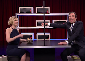 Jennifer Lawrence and Jimmy Fallon Lie to Each Other, and It is Hilarious