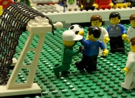 Maradona Hand Of God  World Cup Game in LEGO