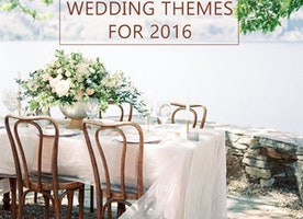 Latest wedding decoration trends in 2016