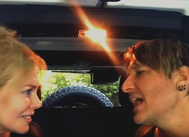 Keith Urban and Nicole Kidman are Adorable Lip Syncing to #TheFighter