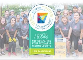 We just ranked in the Top 5 Companies for Women Technologists by AnitaB.org!!